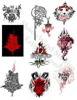 Burning Red Band Logos by Shadowind