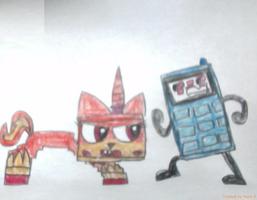 Evil Unikitty Vs Phone by thedrksiren
