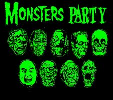 The Universal monster party by Starvampire
