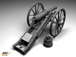 3D canon 1812  model by AndexDesign
