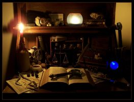 The Wizard's Desk I by the-bogbrush-project