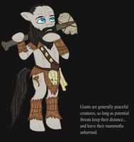 Ponified Skyrim loading screen: Giant by glue123