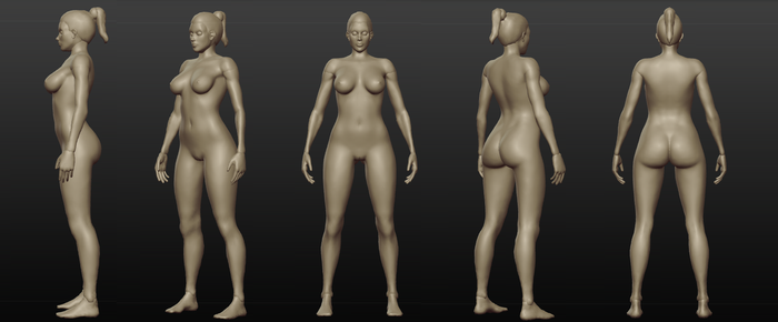 Female sculpt WIP by spectra-unknown