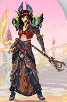 Warcraft Blood Elf warlock by JScott88