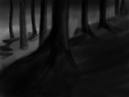 Speed Painting 038 Feral Ridge Wolf Background by ParjanyaVictor