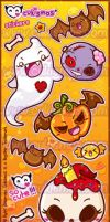 Halloween Stickers - 2011 by Cukismo