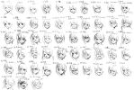 50 Expressions Anime by Bardi3l