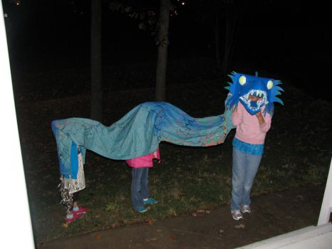 Nieces' Halloween Dragon Costume by Mr-Monster-Mutt