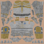 Lionheart Knight Diffuse Texture Sheet by A-Not-E
