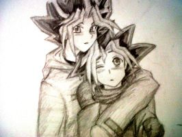 Yami and Yugi by blackorchid2007
