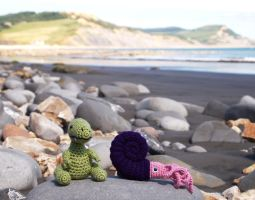Plushies at Jurassic Coast by kaelby