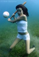 Underwater Baseball by underwatermeister