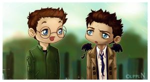 Daniel and Castiel by uppuN