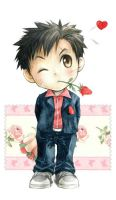 boy,rose and love by kinly