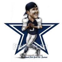 Tony Romo Dallas Cowboys by DFitchPencilArt