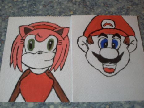 Amy and Mario Painted by Me by yoshielectron