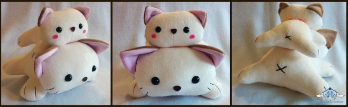 Cat tower plush by ValkyriaCreations