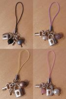Key and Lock Phone Charms by DemoraFairy