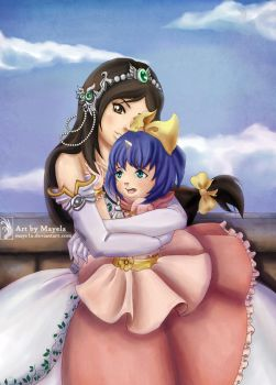 Commission- Garnet and Eiko by Maye1a