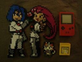 Completed Team Rocket Sprites! by 8bitsofawesome