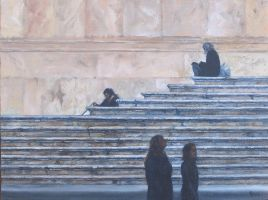 Stepping Out-Rome-  Oil Painting by AstridBruning