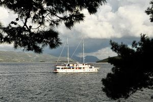 Sailing past Korcula 2 by wildplaces