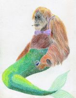 Mermaid-Orang Utan by Bela1334
