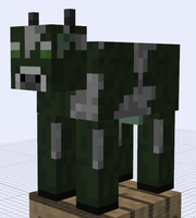 Minecraft Mob Ideas - Mad Cow by RedPanda7