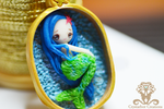 Polymer clay Tiny Mermaid by Crystarbor