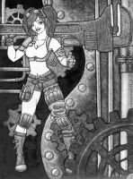 steam punk girl by illustrated24