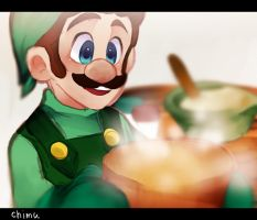 Luigi to cook by asumachimu