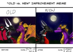 Old Vs New Meme Spyro And Cynder by Princess-Shannen