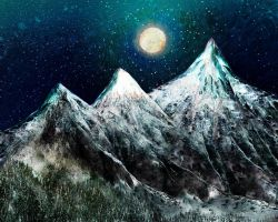 The Cold Moon (For Miriam) by rabbitica