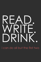 READ WRITE DRINK iPhone by will-yen