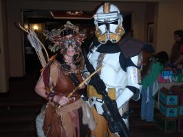 Dryad and Storm Trooper by Red-Dragon-Lord