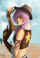 Lightning: Cowgirl by Zekfir