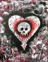 Alkaline Trio Heart and Skull by kortniiXzombii