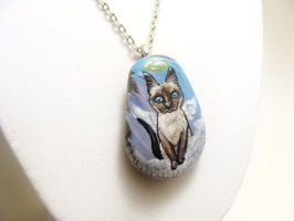 Siamese Cat Pendant Necklace by sobeyondthis