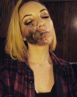 Zombie Face Makeup by SuperMissKitteh