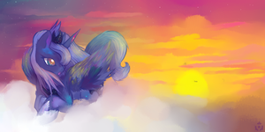-Princess Luna- by Nyanamo