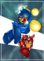 Mega Man to the Rush by mulcimber