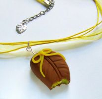Chocolate Candy with Lemon Filling Necklace by Wind-UpLadybug