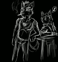 Fox and Wolf -Chilling- by Prince-Marusu