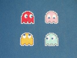 pacman ghost magnets by eevilkat