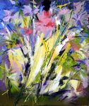 Abstract Flowers 60 x 70 cm. by zampedroni