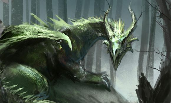 Marsh Dragon by conorburkeart