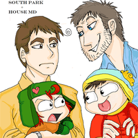 HOUSE MD + SOUTH PARK by here-but-not