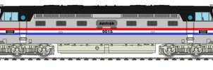 Amtrak Deltic by AJF3440