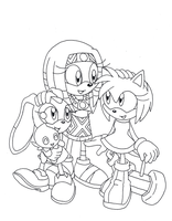 Lineart: Amy Tikal and Cream by SpitFireLex