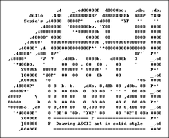Solid ASCII Art Tutorial by jSepia